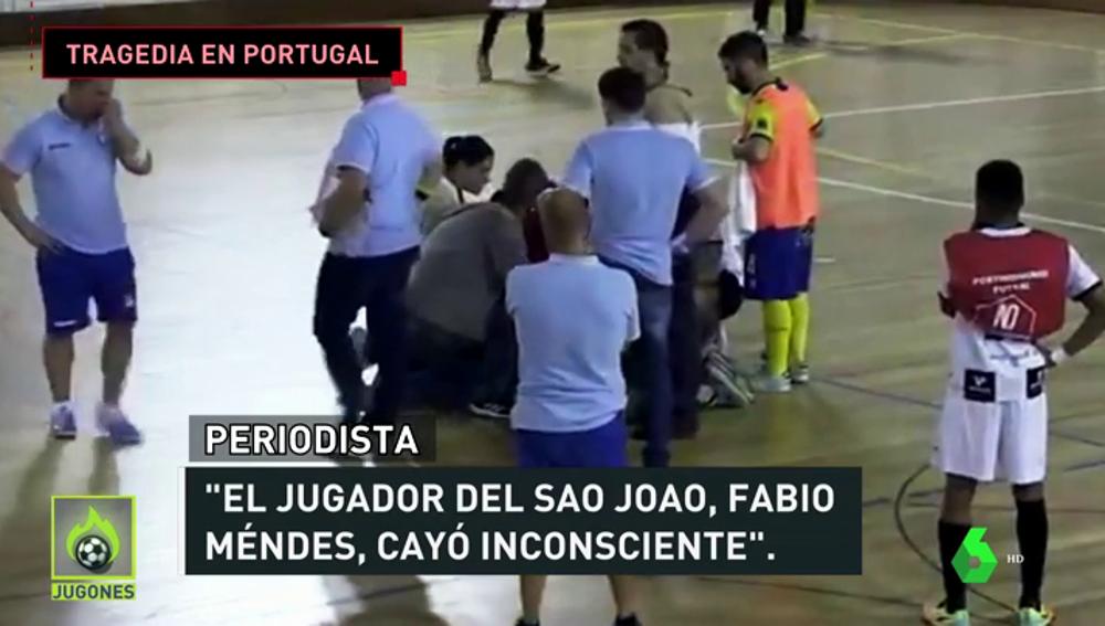 Tragedia en Portugal: Fabio Méndes, jugador de fútbol sala, muere tras caer desplomado en mitad de un partido