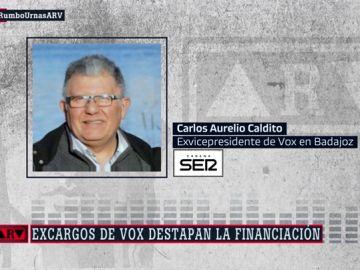 Carlos Aurelio Caldito, exvicepresidente de Vox en Badajoz