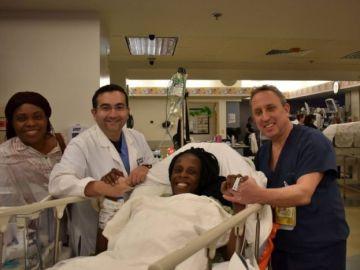 Thelma Chiaka en el hospital