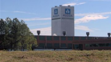 Vista de la planta de Alcoa