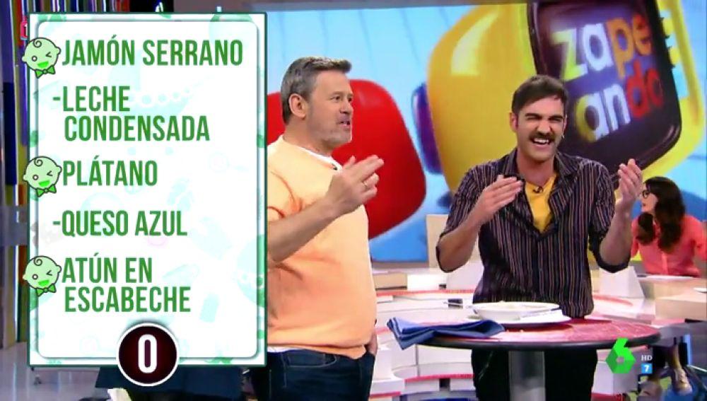 Miki Nadal y Jon Plazaola arrasan en el 'juego de las papillas' al adivinar los sorprendentes ingredientes que llevan