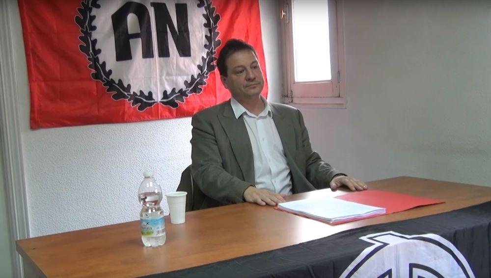 Fernando Paz en un acto de Alianza Nacional