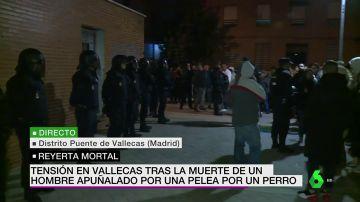 Tensión en Vallecas en una protesta por el apuñalamiento mortal de un hombre de 63 años