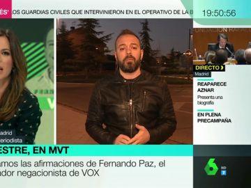 """Antonio Maestre: """"Abascal no puede defender el fichaje de Fernando Paz y decir quiénes son sus amigos filoterroristas"""""""
