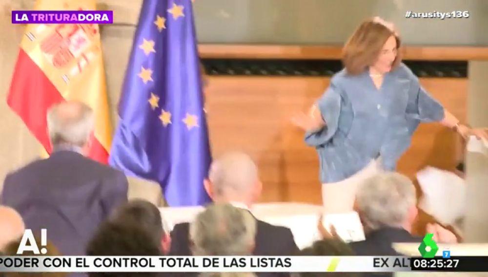 """Blanca Berasategui sufre una caída en los Premios Nacionales de Cultura y el rey Felipe se disculpa con ella: """"El culpable he sido yo"""""""