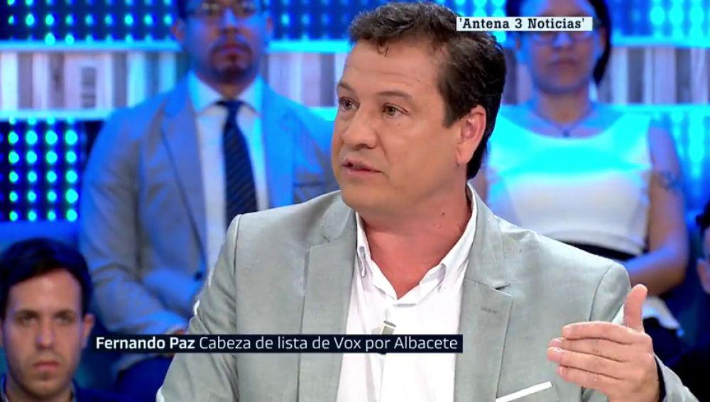 El cabeza de lista de Vox por Albacete, Fernando Paz