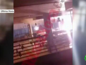Explosión en un vagón en la estación de Palma