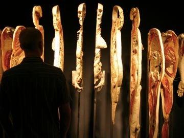 Cuerpos en un museo