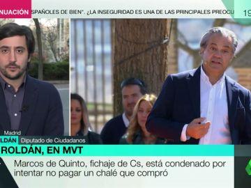 """Toni Roldán (Ciudadanos) defiende el fichaje de Marcos de Quinto: """"Es uno de los gestores más importantes que ha tenido España"""""""