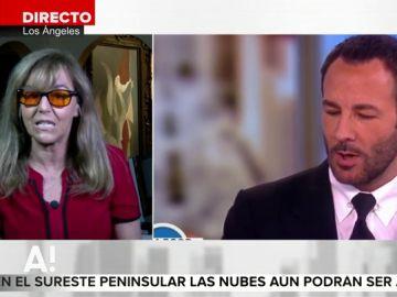 """María Estévez tacha de """"fake news"""" la polémica del diseñador Tom Ford y Melania Trump: """"Él no dijo que nunca vestiría a una prostituta de lujo"""""""