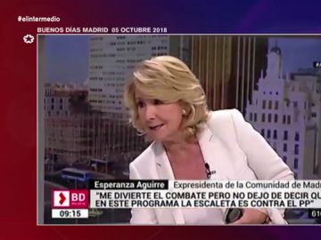 """Cuando Esperanza Aguirre se marcó un Borrel y abandonó una entrevista en pleno directo: """"Y esto me lo llevo"""""""