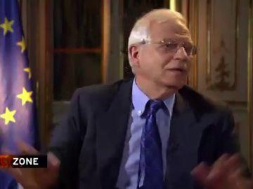 Josep Borrell para una entrevista en DW News
