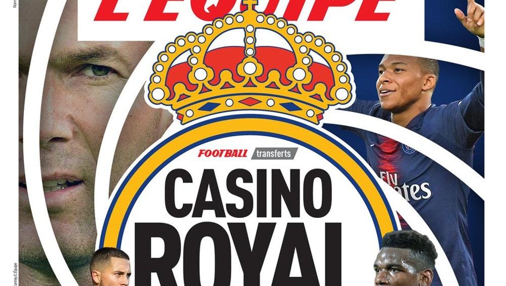 La portada de 'L'Equipe' con los planes del Real Madrid para el mercado de fichajes