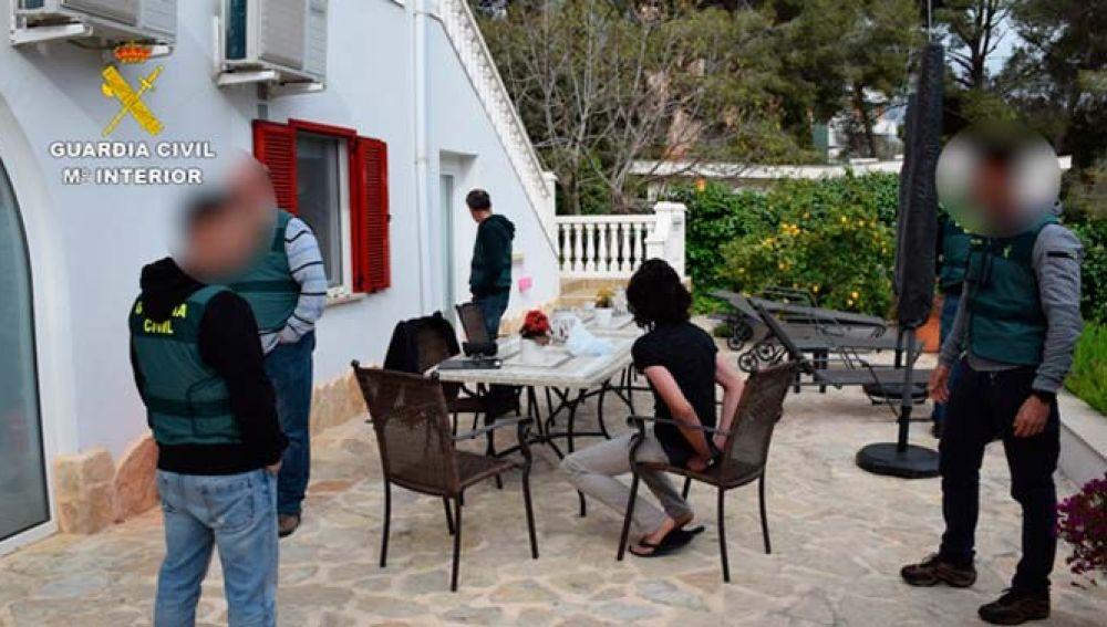 El detenido en su chalet de Mallorca