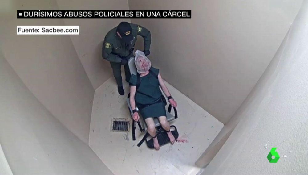 Duras imágenes de abusos policiales a un preso en Alabama