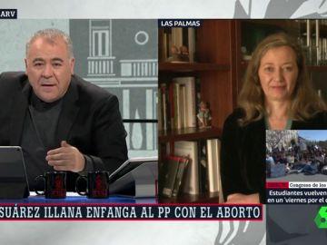 """Victoria Rosell, sobre Suárez Illana: """"Los que no saben nada de feminismo que dejen los derechos de las mujeres fuera de campaña"""""""