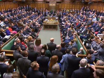 Captura de un vídeo facilitada por la Unidad de Grabación del Parlamento del Reino Unido que muestra una votación sobre el Brexit en el Parlamento en Londres