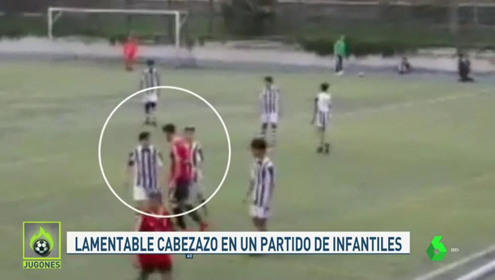 Suspenden dos años a un jugador infantil por dar un cabezazo a un rival