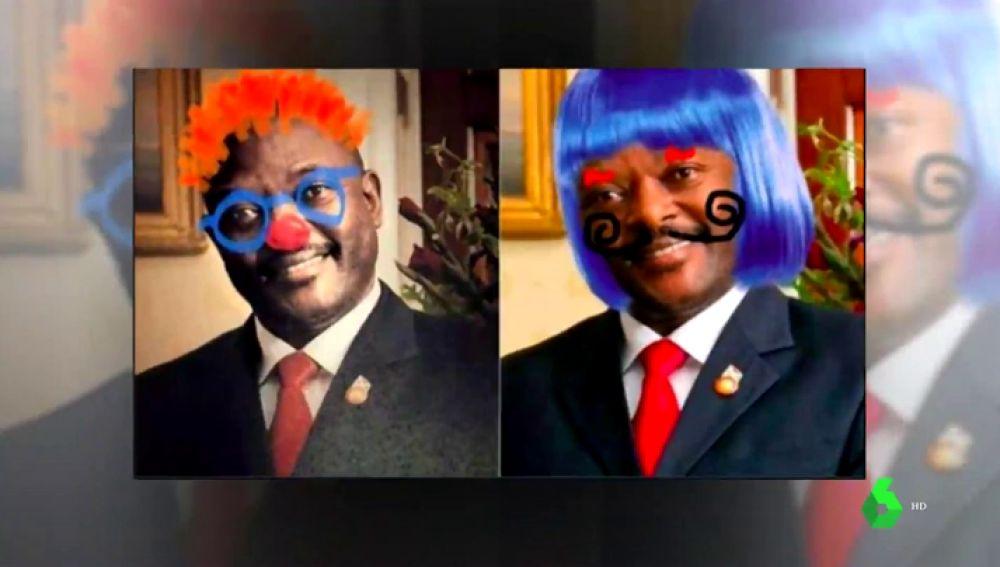 Resultat d'imatges de foto Pierre Nkurunziza pintada