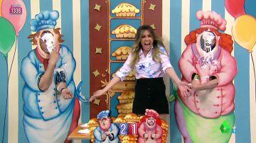 El tartazo por error de Anna Simon a Miki en el Juego de la SemAnna