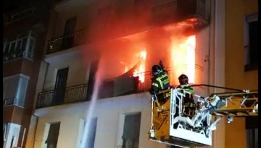 Incendio en Arganzuela