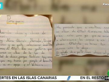 Una niña envía una carta a Panini para que diseñen un álbum de fútbol femenino