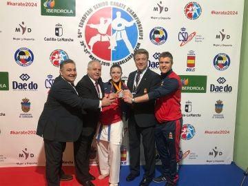 Laura Palacio, con la medalla de oro