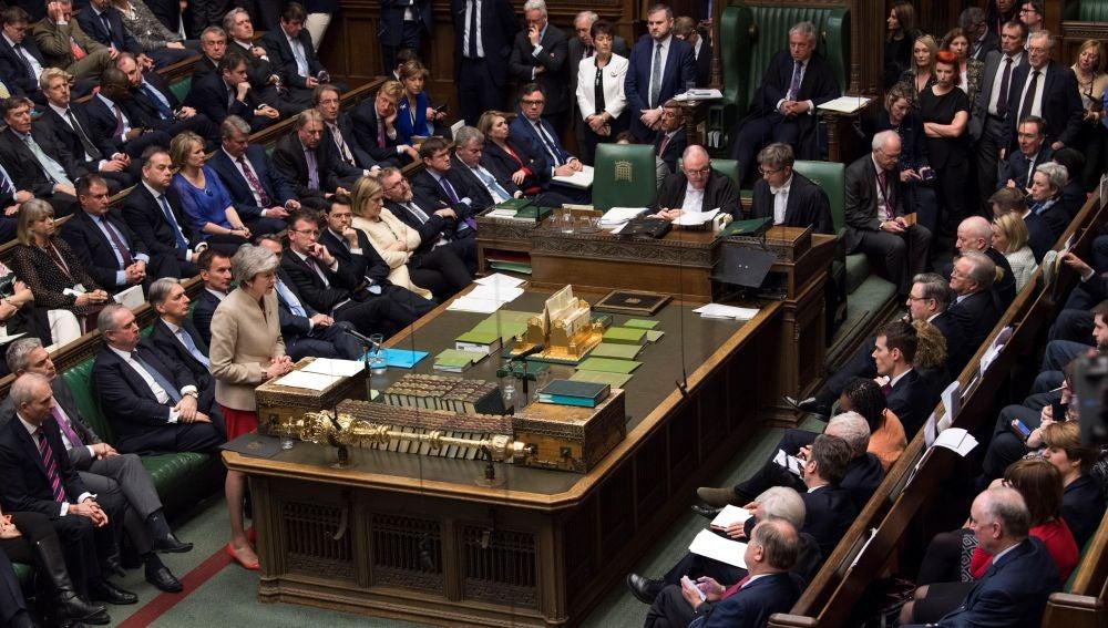 Fotografía cedida por el Parlamento del Reino Unido