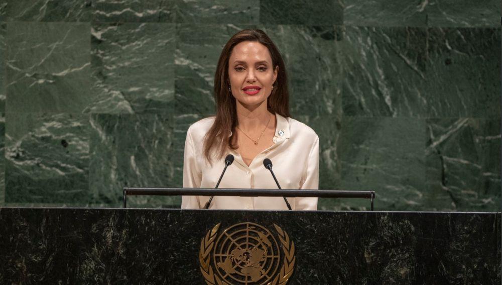 Angelina Jolie en la cumbre de las Naciones Unidas