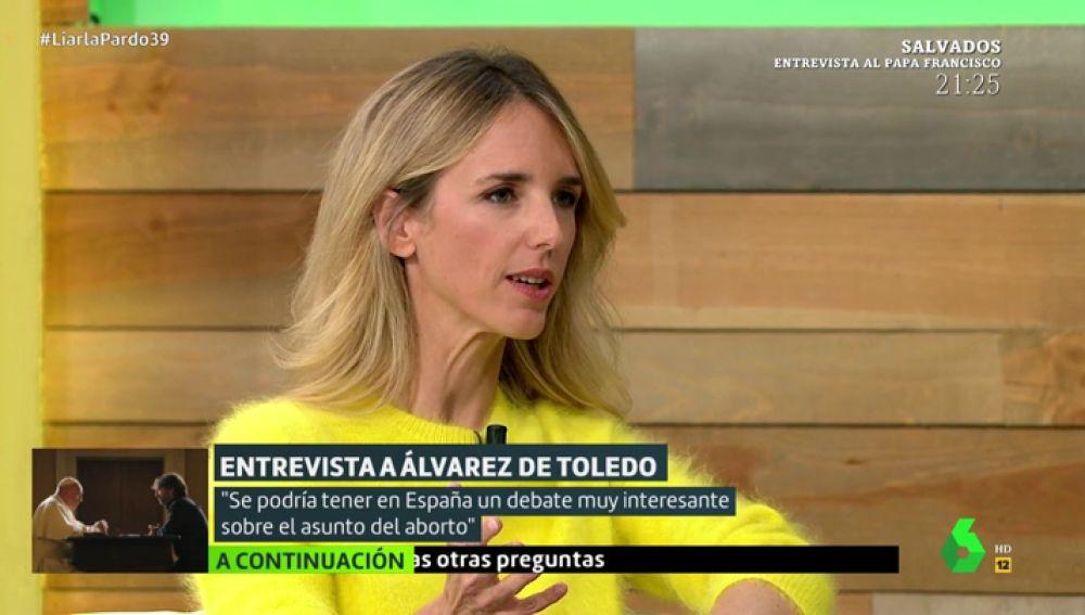 "Cayetana Álvarez de Toledo: ""Se debería dar libertad de voto sobre estos asuntos de consciencia"""
