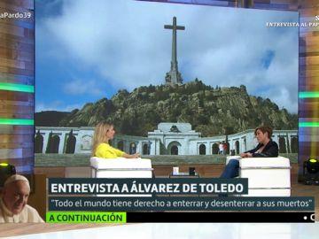 """Cayetana Álvarez de Toledo: """"El Valle de los Caídos es un sitio estéticamente adecuado para que Franco esté allí"""""""