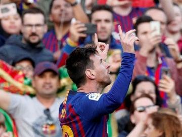 laSexta Deportes (31-03-19) Un doblete de Messi decide el derbi contra el Espanyol y acerca al Barça al título