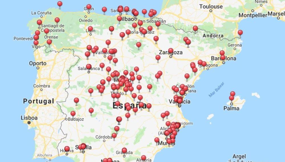 Emblemas franquistas que siguen aún a la vista pública