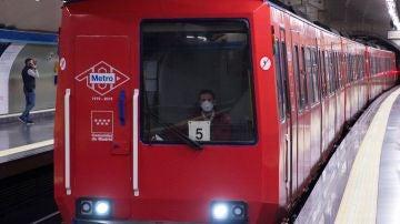 Un tren del Metro de Madrid