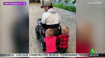 Así es el adorable vídeo de Enrique Iglesias jugando con sus hijos que enamora al mundo