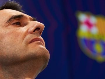 Ernesto Valverde atiende a los medios