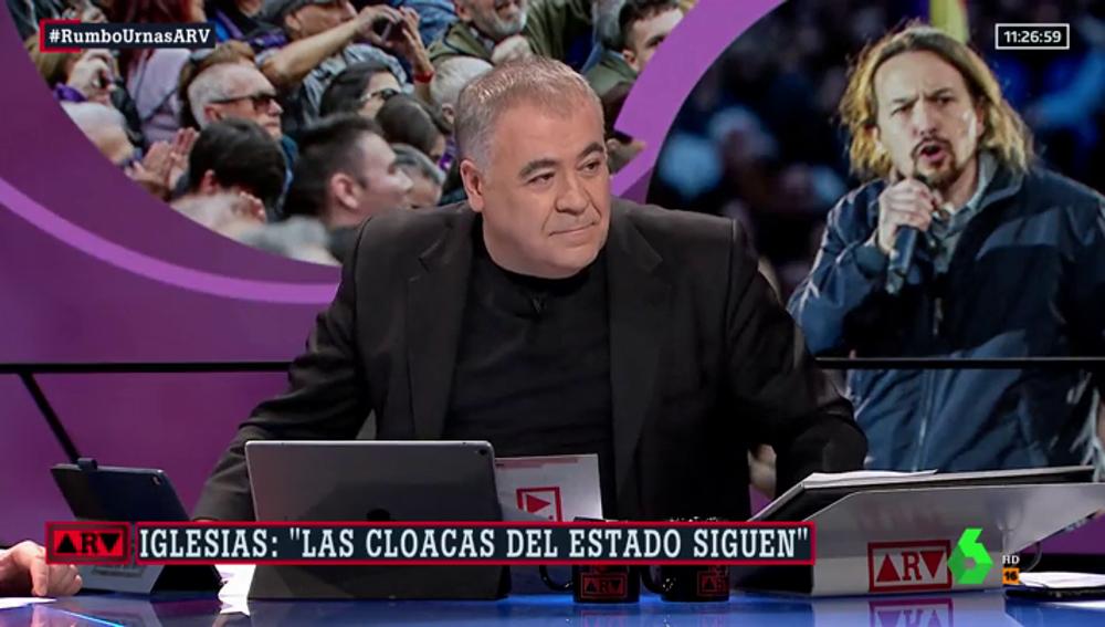 La respuesta de Ferreras a Iglesias sobre las presiones a los medios