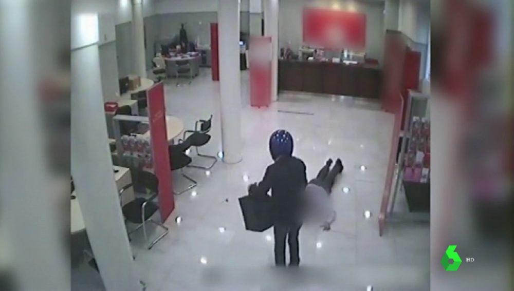 Uno de los asaltos que realizó el atracador italiano