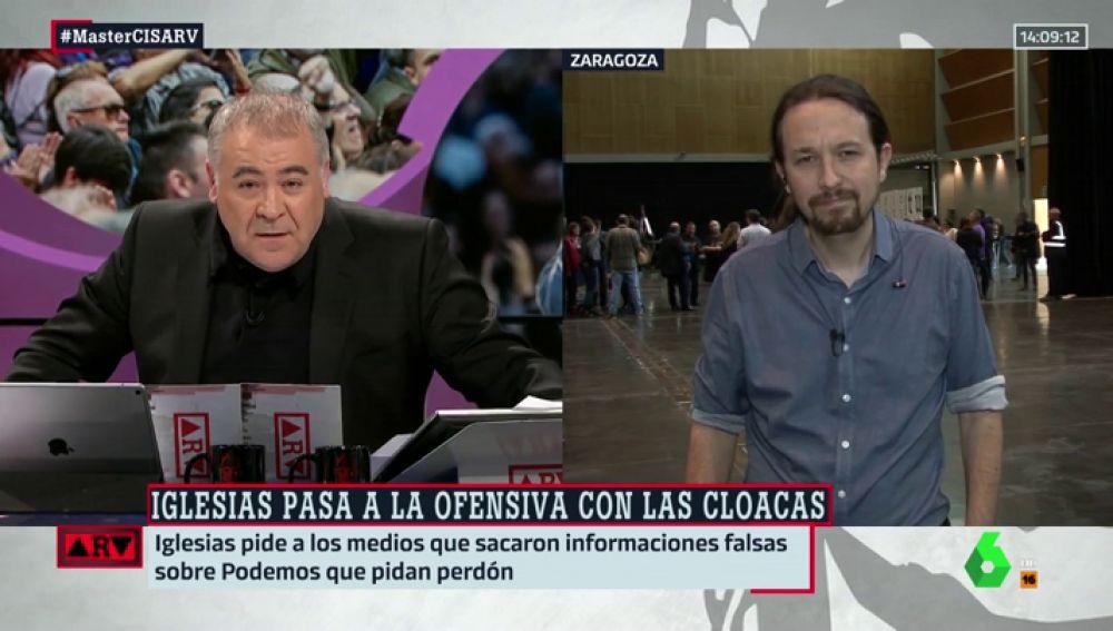 Pablo Iglesias, a palos en directo contra Ferreras: