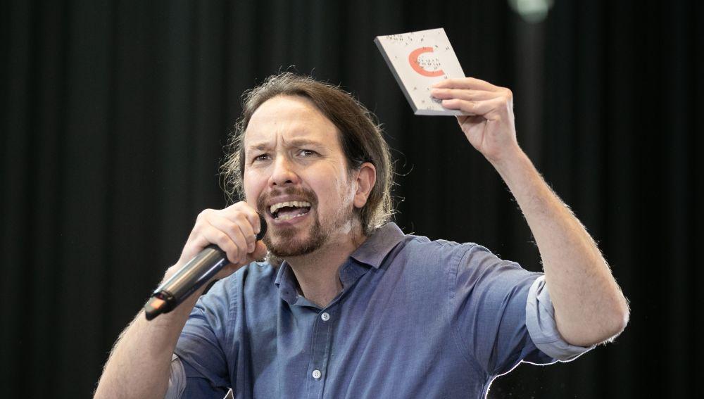 El candidato de Unidas Podemos a la Presidencia del Gobierno, Pablo Iglesias