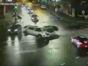 Una conductora ebria se estrella contra un coche patrulla en Chicago