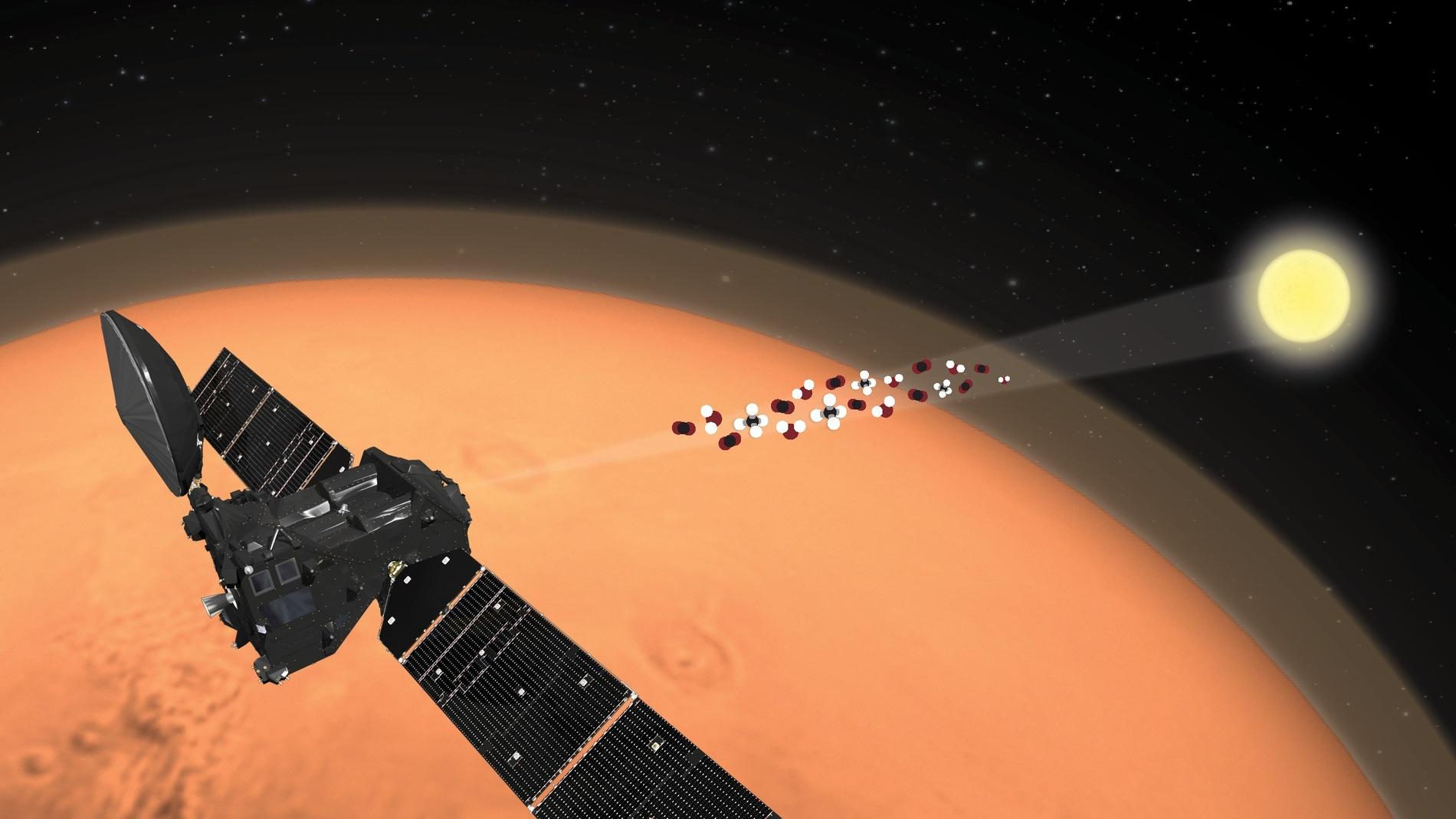 La sonda ExoMars TGO manda los primeros datos sobre la atmosfera de Marte