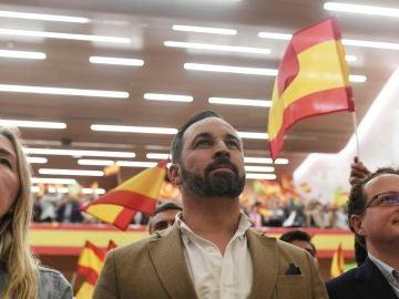El líder de Vox Santiago Abascal en un acto en Córdoba