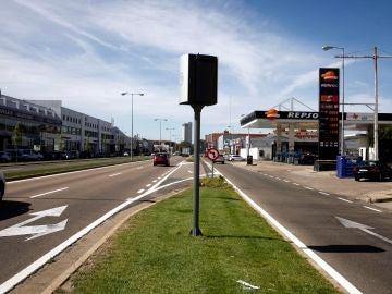 Radar de velocidad en la Avenida de Burgos de Valladolid