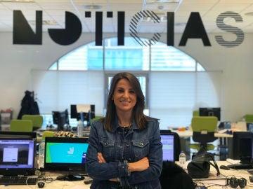 Ángela Vera, en la caravana electoral de Vox