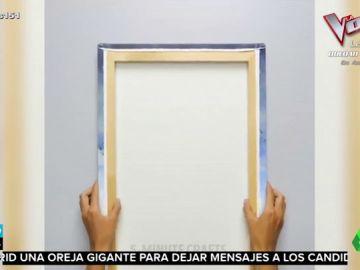 Este es el sorprendente truco que te ayudará a colgar un cuadro sin dificultad