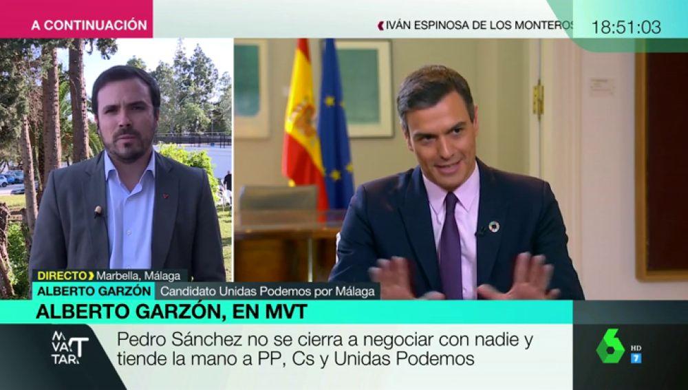 """Alberto Garzón: """"El voto al PSOE puede servir para que Rivera sea ministro de Trabajo"""""""