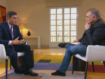 Ferreras entrevista a Pedro Sánchez en Moncloa
