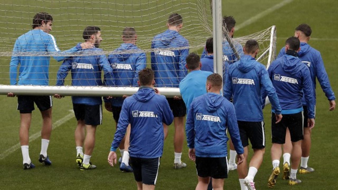 Entrenamiento del Málaga CF