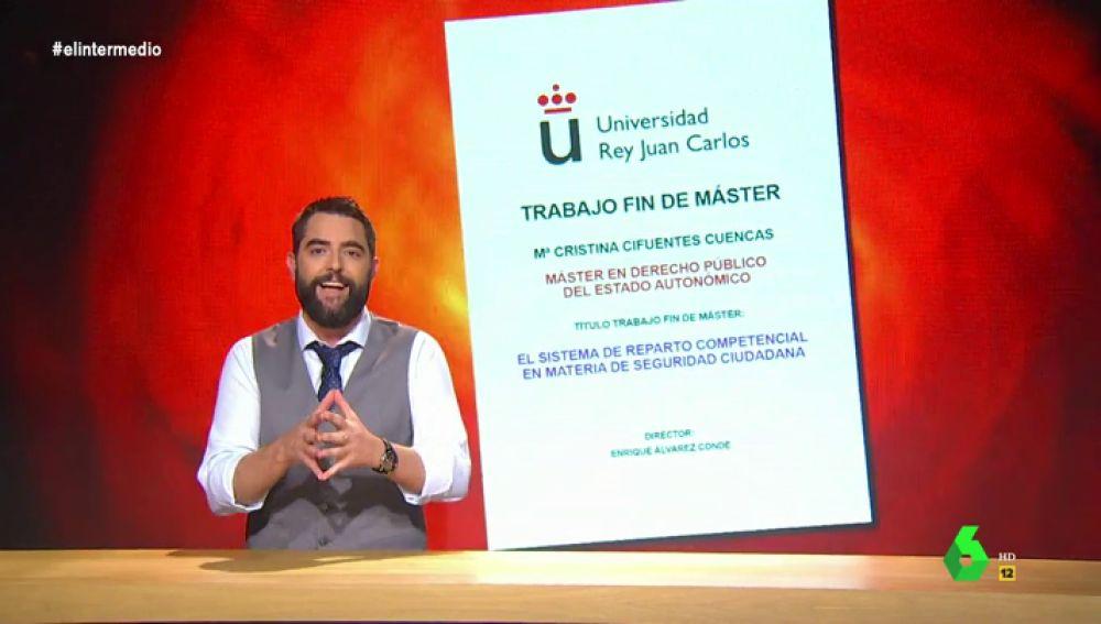 El Intermedio encuentra el TFM de Cristina Cifuentes en el interior de un agujero negro